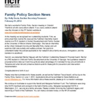 Family Policy Section News