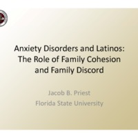 Anxiety Disorders and Latinos: The Role of Family Cohesion and Family Discord