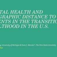 Mental Health and Geographic Distance to Parents in the Transition to Adulthood in the U.S.