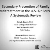 Secondary Prevention of Family Malreatment in the U.S. Air Force: A Systematic Review
