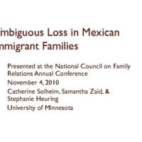 Ambiguous Loss in Transnational Mexican Families