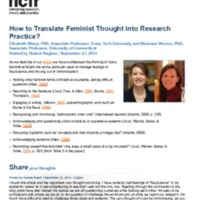 http://images.ncfr.org/webconvert/archive/How_to_Translate_Feminist_Thought_into_Research_Practice_NCFR.pdf