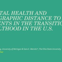 Mental health and geographic distance to parents in the transition to adulthood in the US