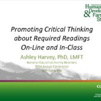Promoting Critical Thinking About Required Readings On-line and In-Class