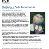 Globilization of Family Science Curricula