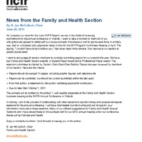 News from the Family and Health Section