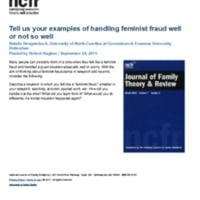 http://images.ncfr.org/webconvert/archive/Tell_us_your_examples_of_handling_feminist_fraud_well_or_not_so_well_NCFR.pdf