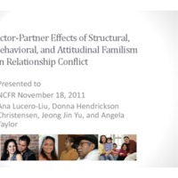 Actor-Partner Effects of Structural, Behavioral, and Attitudinal Familism on Relationship Conflict