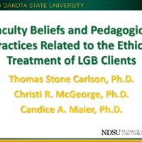Faculty Beliefs and Pedagogical Practices Related to the Ethical Treatment of LGB Clients