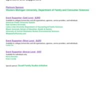 2013 CFLE Reception sponsors