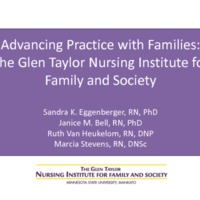 Advancing Practice The Glen Taylor Nursing Institute for Family and Society