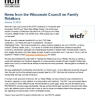 News from the Wisconsin Council on Family Relations