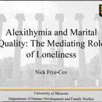 Alexithymia and Marital Quality: The Mediating Role of Loneliness