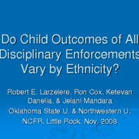 Do Child Outcomes of All Disciplinary Enforcements Vary Ethnicity?