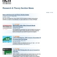 Research & Theory Section News