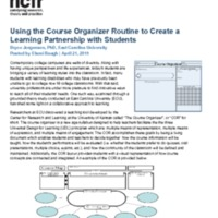 Using the Course Organizer Routine to Create a Learning Partnership with Students