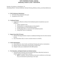 2012 Family Policy Annual Meeting  Minutes