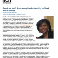Ready or Not? Assessing Student Ability to Work with Families
