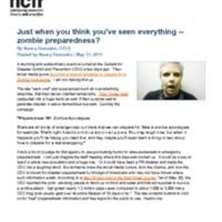 http://images.ncfr.org/webconvert/archive/Just_when_you_think_youve_seen_everything_zombie_preparedness_NCFR.pdf