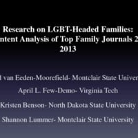 Research on LGBT-Headed Families: A Content Analysis of Top Family Journals 2000-2013