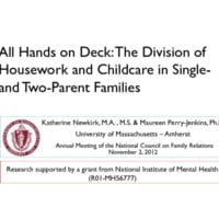 All Hands on Deck: The division of family labor in single- and two-parent families