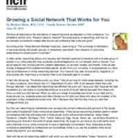 http://images.ncfr.org/webconvert/archive/Growing_a_Social_Network_That_Works_for_You_NCFR.pdf