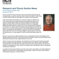 Research and Theory Section News