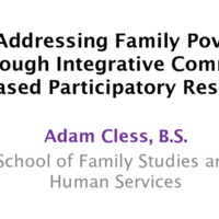 Addressing Family Poverty Through Integrative Community-Based Participatory Research