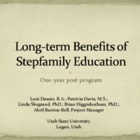 Benefits of Stepfamily Education: One Year Later