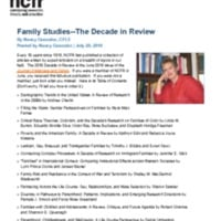 Family Studies--The Decade in Review