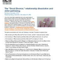 http://images.ncfr.org/webconvert/archive/The_Good_Divorce_relationship_dissolution_and_child_well_being_NCFR.pdf