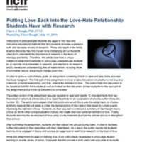 Putting Love Back into the Love-Hate Relationship Students Have with Research