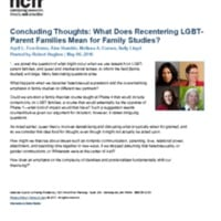 Concluding Thoughts: What Does Recentering LGBT-Parent Families Mean for Family Studies?