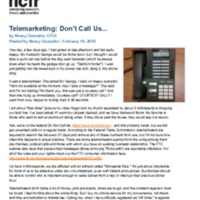 http://images.ncfr.org/webconvert/archive/Telemarketing_Dont_Call_Us.pdf