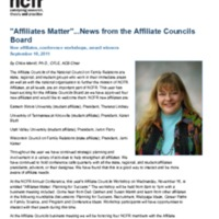 """Affiliates Matter""...News from the Affiliate Councils Board"