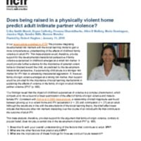 Does being raised in a physically violent home predict adult intimate partner violence?