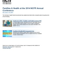 Families & Health at the 2014 NCFR Annual Conference
