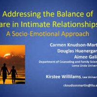 Addressing the Balance of Care in Intimate Relationships