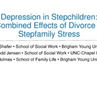 Depression in Stepfamilies: Combined Effects of Divorce & Stepfamily Stress