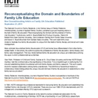 Reconceptualizing the Domain and Boundaries of Family Life Education