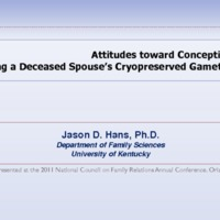 Attitudes Toward Conception Using a Deceased Spouse's Cryopreserved Gametes