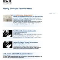Family Therapy Section News