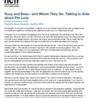http://images.ncfr.org/webconvert/archive/Roxy_and_Beau_and_Where_They_Go_Talking_to_Kids_about_Pet_Loss_NCFR.pdf