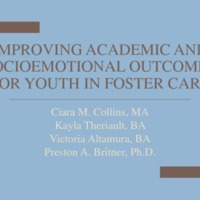 Improving Academic and Socioemotional Outcomes for Youth in Foster Care