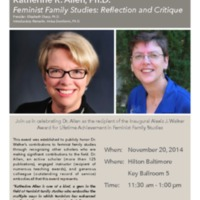 Alexis J. Walker Award Address -- Feminist Family Studies: Reflection and Critique
