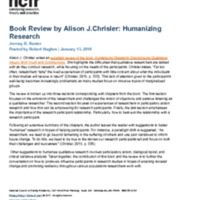 Book Review Alison J.Chrisler:  Humanizing Research