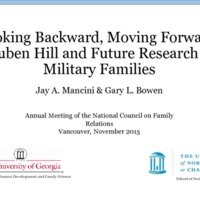 Looking backward, moving forward: Reuben Hill and future research on military families