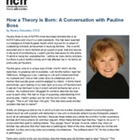 How a Theory is Born: A Conversation with Pauline Boss