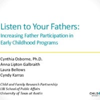 Listen to Your Fathers: Increasing Father Participation in Early Childhood Programs