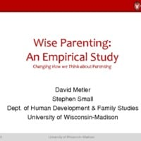 Wise Parenting: An Empirical Study